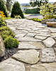 sentier trottoir pierre